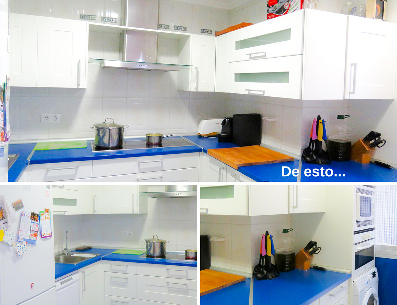 Cocina azul turquesa athe same color as the house on - Cocinas azul tierra ...